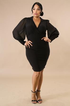 Jeweled Sheer Body-Con Dress