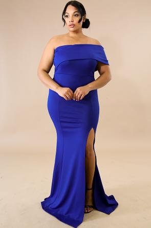 Vaudevillian Slit Maxi Dress