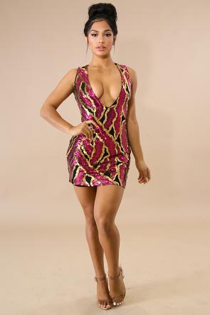 Sequin Slates Body-Con Dress