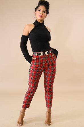 Plaid Stripe Pants