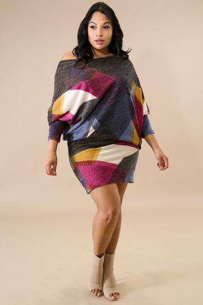 Dolmen Color Patch Maxi Dress