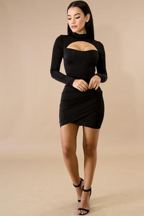 Sweet Peek Body-Con Dress