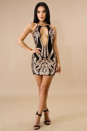 Cherished Sequin Body-Con Dress
