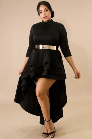 Long Tail Flare Dress