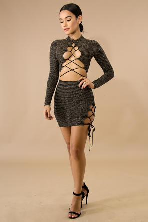 Corset Mini Skirt Set