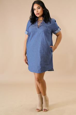 Corset Denim Dress