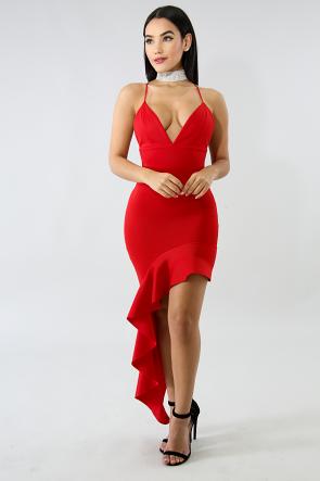 Flaming Flare Maxi Dress