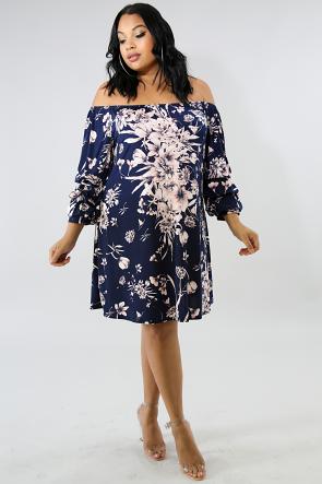 Floral Ruffles Short Dress