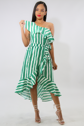 Flare Emerald Dress