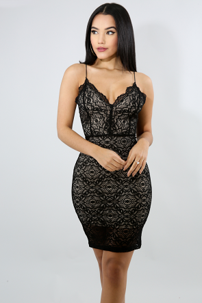 Lace Angel Body-Con Dress