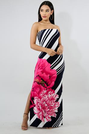 Spring Floral Tube Dress