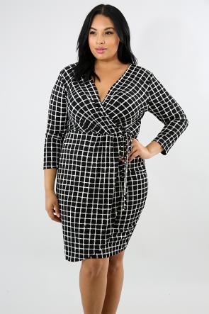Checkered Sketch Dress