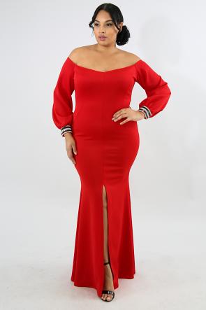 Elegance Sweetheart Maxi Dress