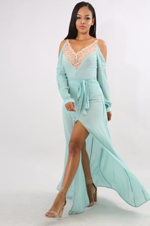 Heart Lace Maxi Dress