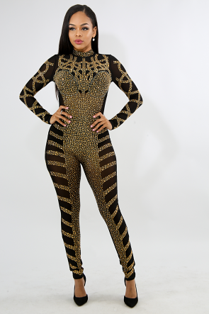Honey B Rhinestone Jumpsuit