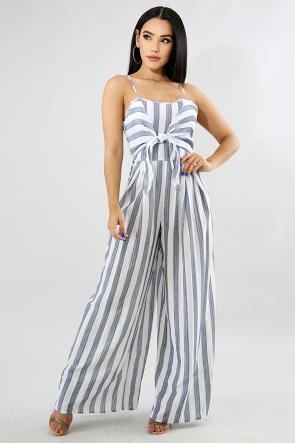 Palazzo Bell Stripe Jumpsuit