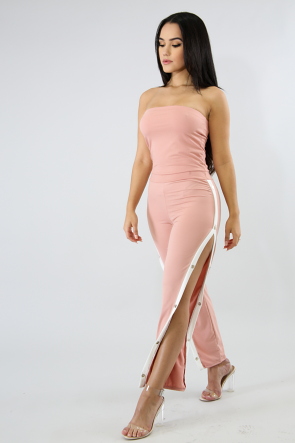 Fit to Body Suede Jumpsuit