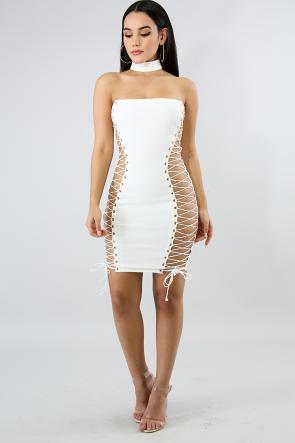 Choker Corset Tube Dress