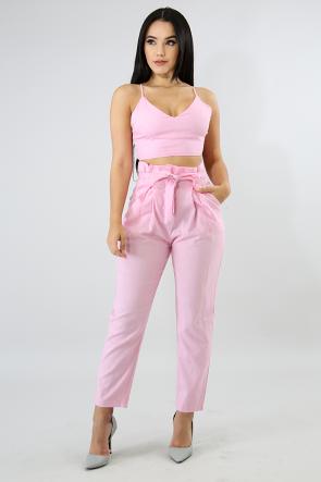 Linen Boxy Pant Set