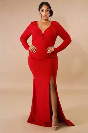 Slit Diva Maxi Dress