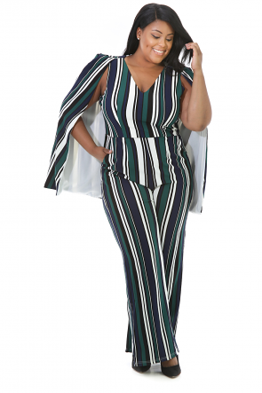 Daily Work Striped Jumpsuit