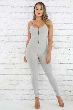 Structured Hook And Eye Jumpsuit
