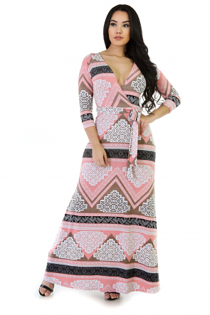 Delicious In Pink Maxi Dress