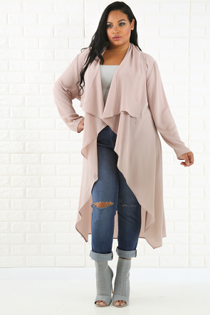 Open Front Flare Cardigan