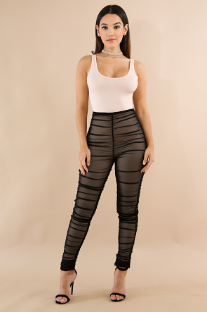Scrunched Pants Set