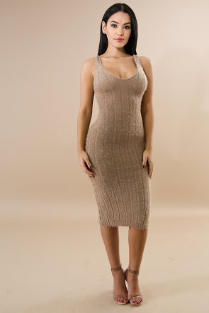 Comfortable Casual Soft Knit Long Dress
