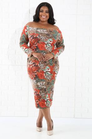 Blossom knit Bodycon Dress