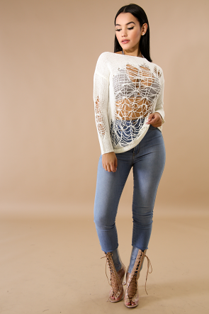 Shreds knit Sweater Top