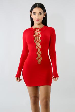 Jersey Lace Mini Dress