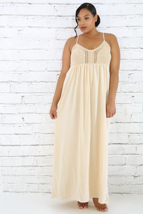 Crotch Sense Maxi Dress