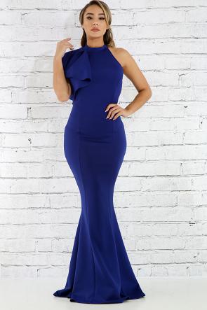 Flare Shoulder Maxi Dress