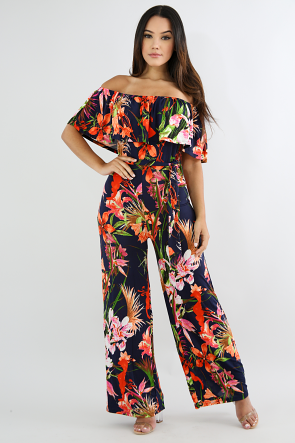 Floral Ruffled Jumpsuit
