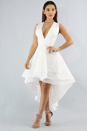 Net Swirl Silky Dress