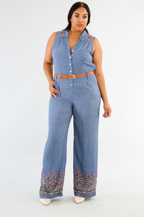 Denim Light Jumpsuit