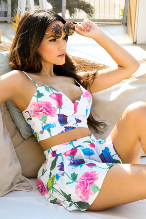 Popping Floral Short Set