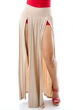Double Slit Maxi Skirt