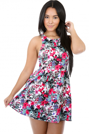 Tropical Floral Dress