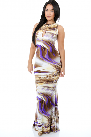 Mermaid Snake Maxi Dress
