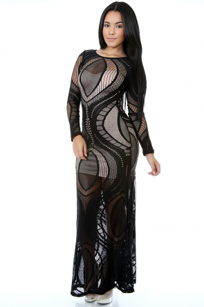 Laced Twist Maxi Dress
