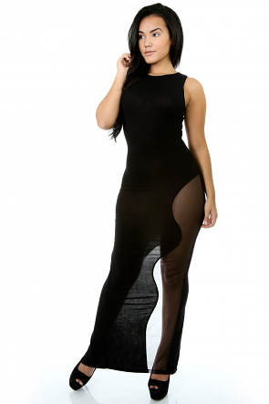 Im Different Contrast Mesh Dress