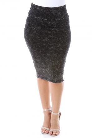 Stretchy High Waisted Skirt