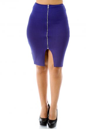 Texture Zip Skirt