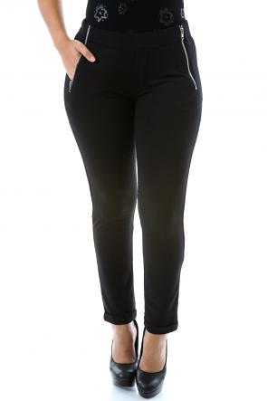 Solid Zip Pants