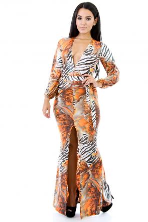 Jungle Trouble Maxi Dress