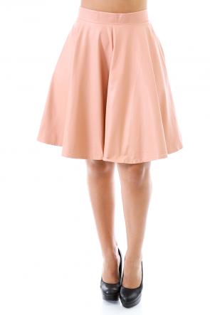 Leatherette A Line Skirt