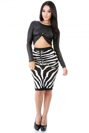 Zebra on the Run Skirt